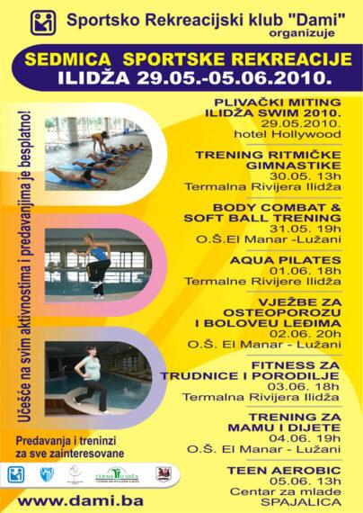 Plakat, promocija sedmice sportske rekreacije