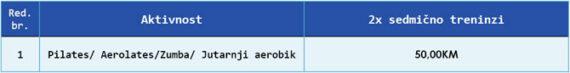"Pilates/ Aerolates/Zumba/ Jutarnji aerobik"""