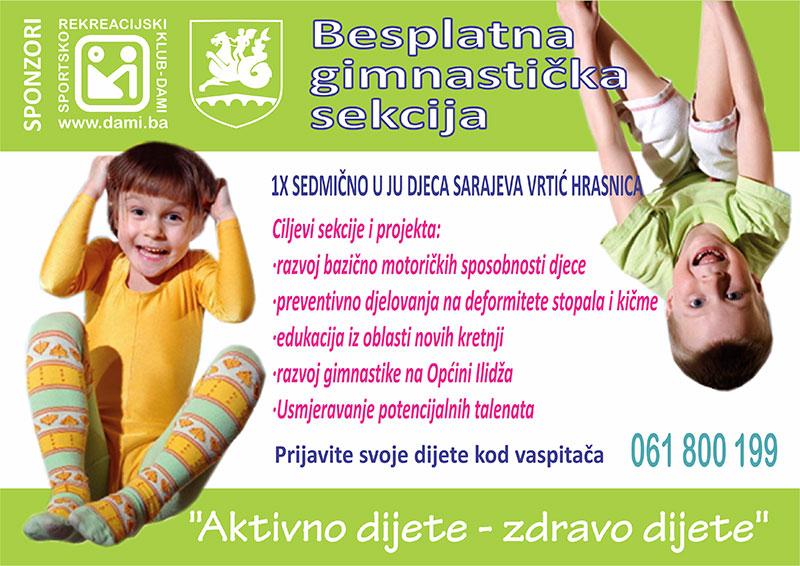 Besplatna gimnastička sekcija