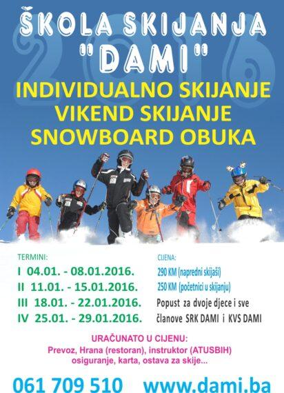 Individualno skinaje, vikend skijanje, snowboard obuka