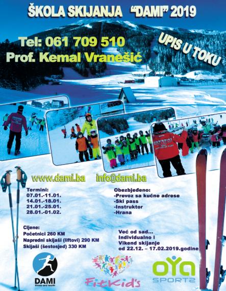 Škola skijanja 2019